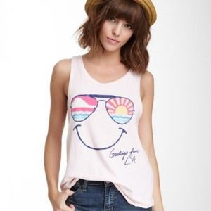 JUNK FOOD Muscle Tee SHIRT Top GREETINGS FROM L.A